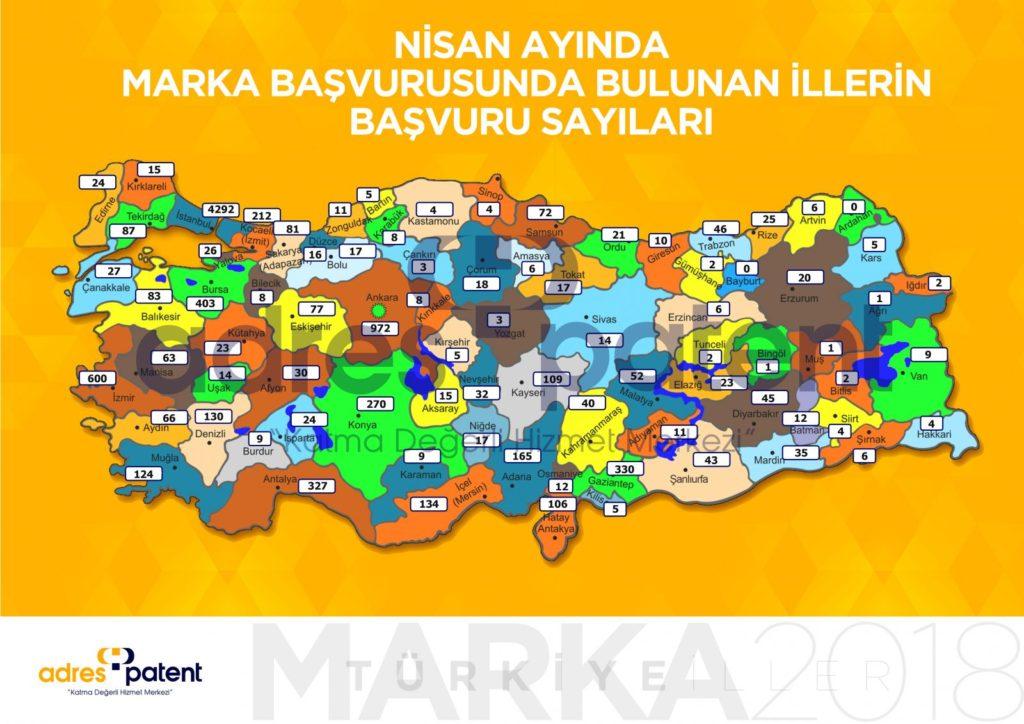Nisan 2018 Türkiye'nin Marka haritası