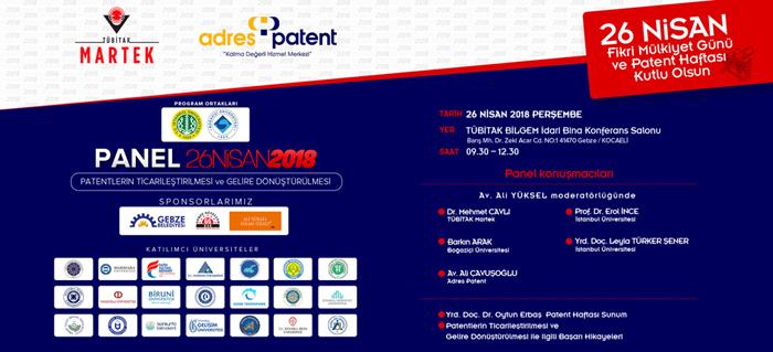 Adres Patent'ten 26 Nisan Patent Haftası Mesajı