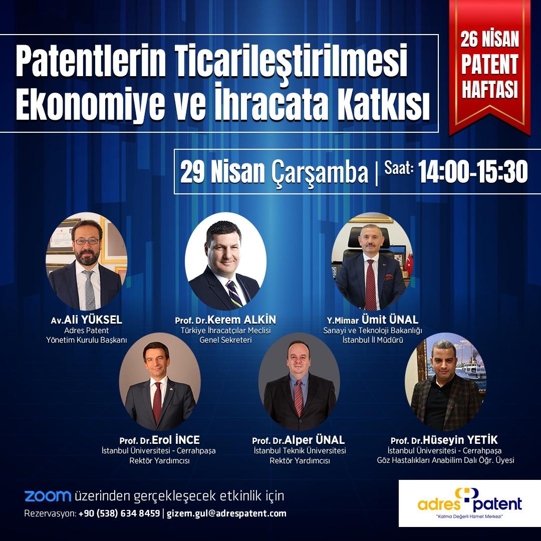 26 Nisan Patent Haftası Etkinlikleri