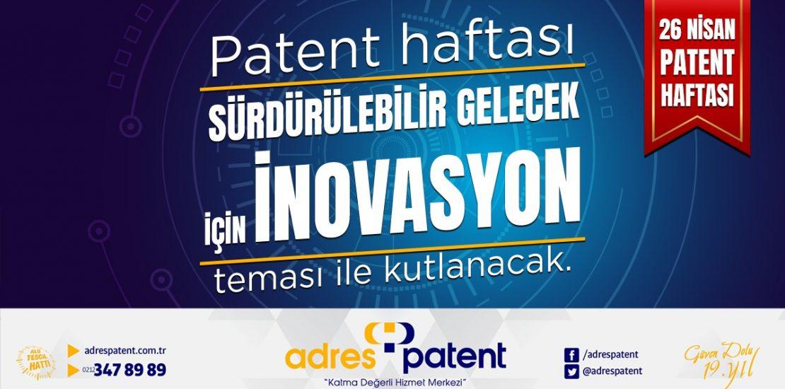 26 Nisan Patent Haftası 2020