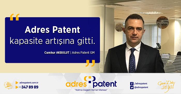adres patent kapasites artışına gitti