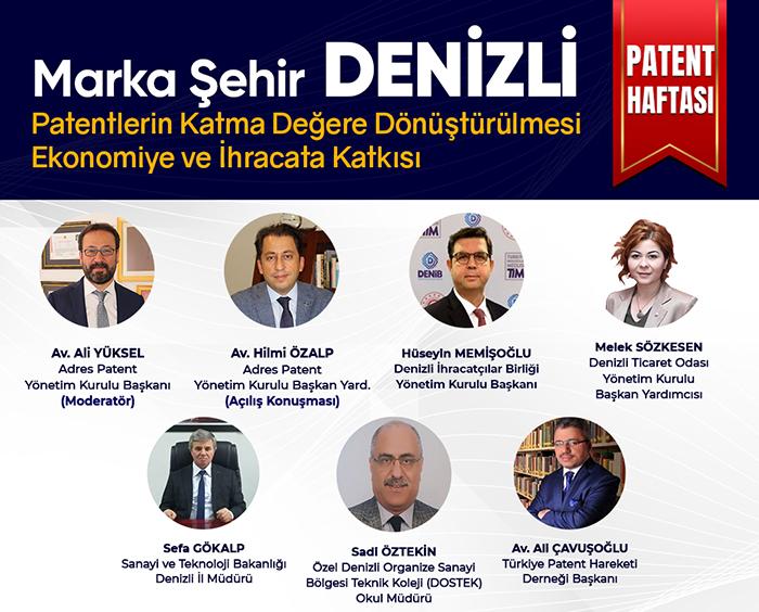 Türkiye Patent Hareketi ve Adres Patent ev sahipliğinde Marka Şehir Denizli banner